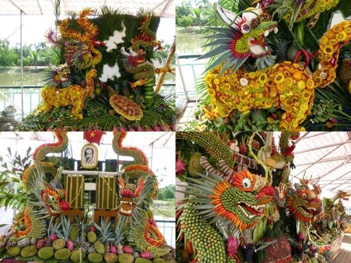 Những tạo hình kì công của nghệ nhân tại mùa lễ hội ở Lái Thiêu