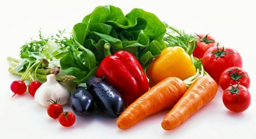 Các loại rau có màu sắc tươi sáng