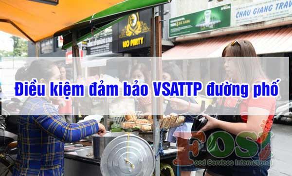 vệ sinh an toàn thực phẩm đường phố