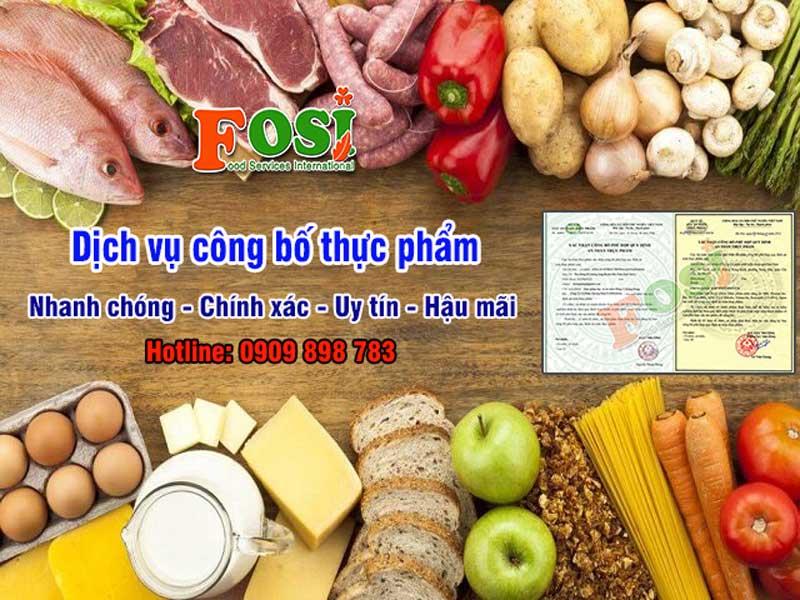 Dịch vụ công bố thực phẩm