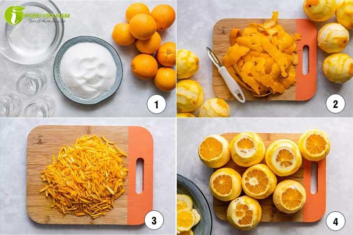 Các làm mứt vỏ cam