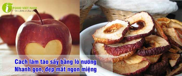 Cách làm táo sấy bằng lò nướng