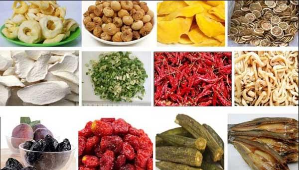 Các loại sản phẩm sử dụng tủ sấy nông sản phổ biến nhất